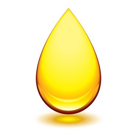 ámbar: Golden lacrim�genos �mbar icono con forma de gota brillo y sombra