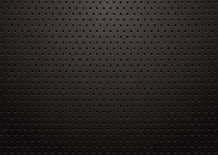 metal mesh: black metal grill with punched holes abstract background Illustration