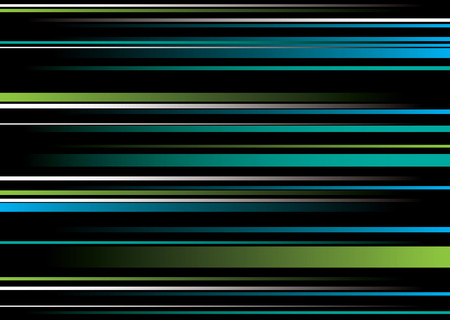 Green and blue abstract background with flowing ribbon string Vector