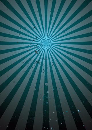 radiating: Resumen radiante tonos de azul de fondo con efecto grunge