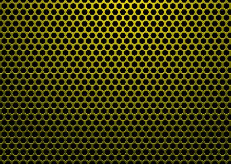 pavimento lucido: abstract background con buchi a forma di esagono e sfondo nero
