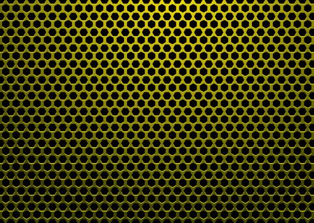 abstract background with hexagon shaped holes and black backdrop Vector