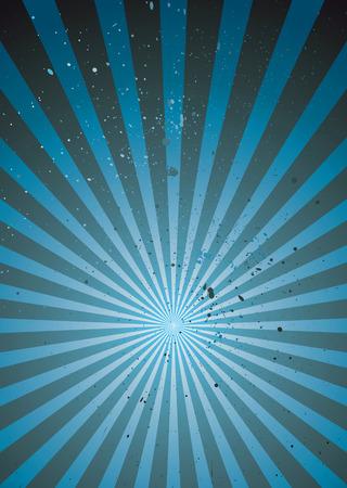 radiating: abstract grunge background con inchiostro simboli e irradia la progettazione