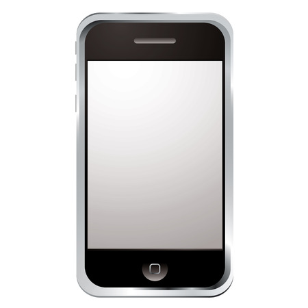 internet gadget phone with large screen and single button Editorial