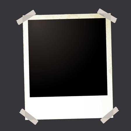sticky tape: fotos de forma instant�nea en blanco con espacio para agregar su propia imagen y la cinta adhesiva Vectores