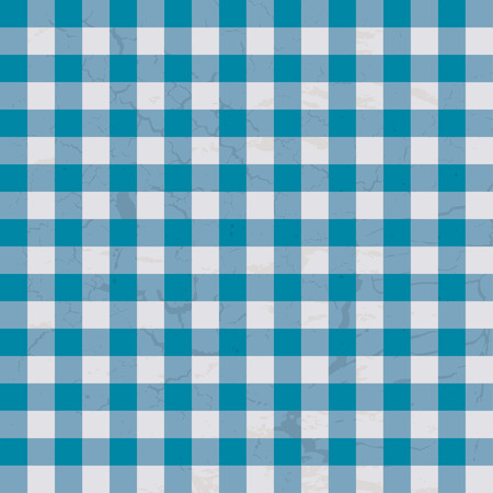 checkered blue and white table cloth with repeat design Vector