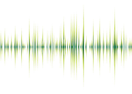 Abstract musical inspired graphical background image with peaks Vector