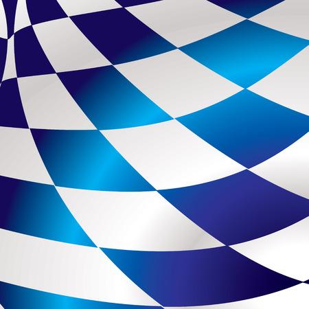 checker flag: Azul y blanco resumen bandera de fondo con efecto de onda Vectores
