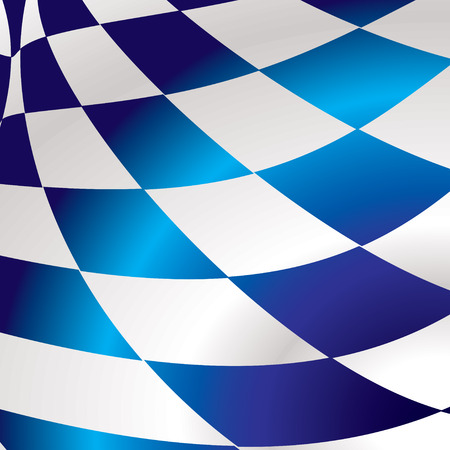 checkered flag: Blue and white abstract checkered flag background with wave effect Illustration