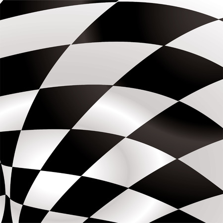ripple effect: Black and white waved formula flag with ripple effect
