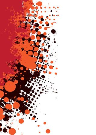Abstract grunge Hintergrund mit Halftone dot und kopieren Platz Illustration