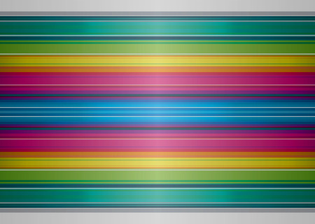 Brightly colored rainbow background with striped ribbon effect Stock Vector - 5260439