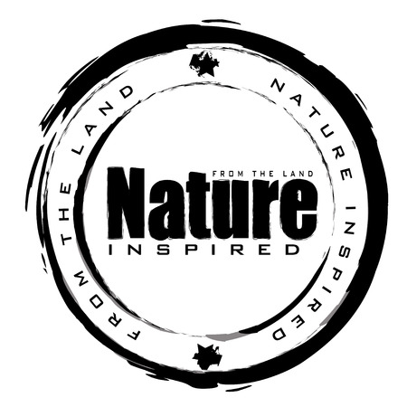 black and white abstract nature icon with ink effect Vector