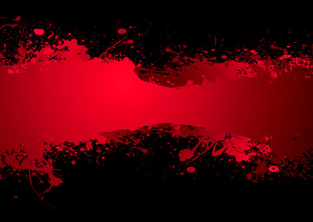 Bright blood red ink banner with room to add your own text