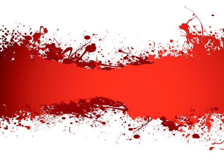 blood red grunge ink banner with room to add your own copy Illustration