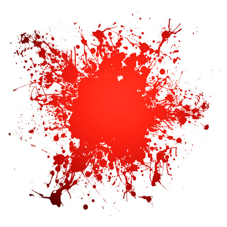 Red blood ink splat with room to add your own copy Illustration