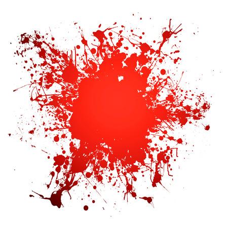 ink splat: Tinta roja s�mbolo de la sangre con espacio para a�adir tu propia copia