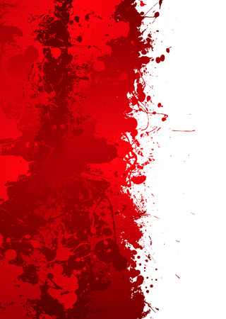 own blood: Blood splat border with red ink effect and room to add your own text Illustration