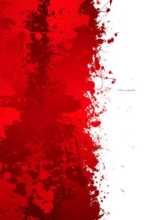 blood flow: Blood splat confine con effetto inchiostro rosso e la possibilit� di aggiungere il proprio testo