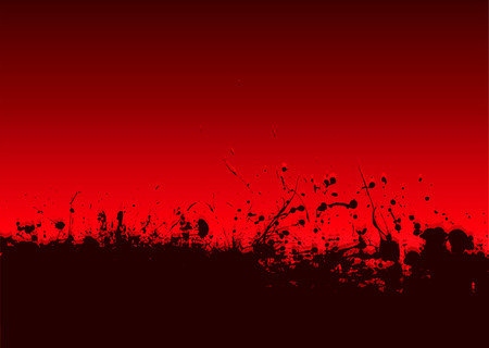 own blood: Abstract blood splat background with room to add your own copy Illustration