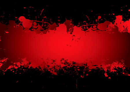 splatters: Bright red blood stream with abstract background effect with copyspace
