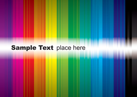 brightly coloured rainbow background with room to add your own text Illustration
