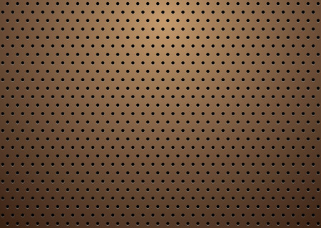abstract bronze metal background with repeat hole design Vector