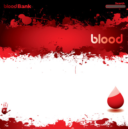 Abstract blood concept background with room to add your own text Stock Vector - 5741942