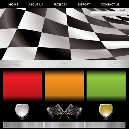 formula racing inspired wbe page background with copyspace Vector
