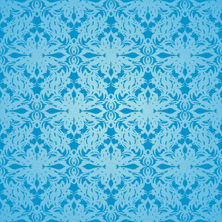 Classy blue wallpaper background with seamless repeat design Vector