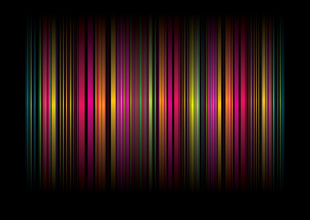 neon: Neon rainbow abstract background with ribbons of colour
