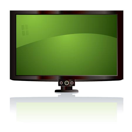 �cran plat: Affichage sur �cran plat LCD avec r�flexion de la lumi�re et le noir surround