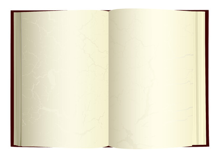 Illustrated open book with blank pages and gothic grunge Vector