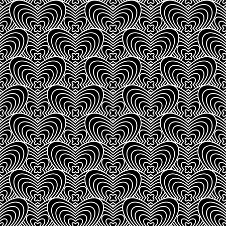 bloat: Black and white abstract background with seamlesss repeat design
