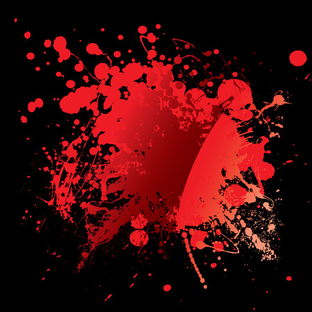 Abstract blood red background with grunge ink effect Vector