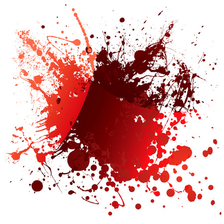 Abstract red blood background with light reflection and splatter Vector