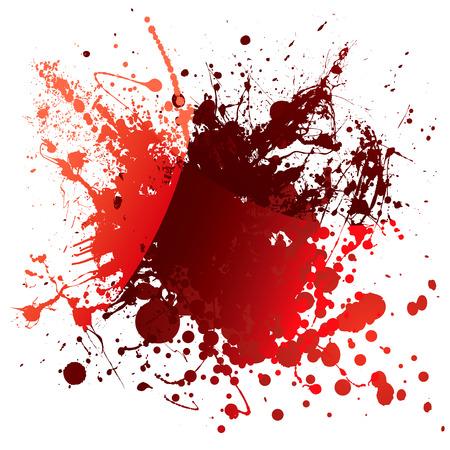 blutspritzer: Abstract roten Blutk�rperchen Hintergrund mit Lichtreflexion und splatter Illustration