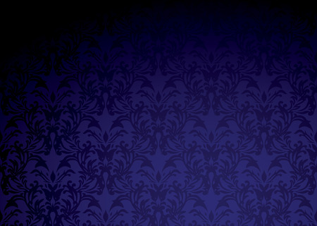 mauve: Classic purple wallpaper pattern with dark shadow and copy space