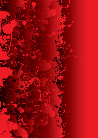 Blood red background with overlapping elements and splat Vector