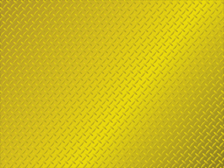 golden metal background with anti slip surface pattern Vector