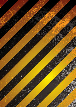 Grunge warning background with orange and black stripes Stock Vector - 5973399