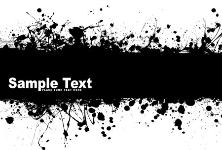 Black ink splat background with room to add your own text Stock Vector - 5973393