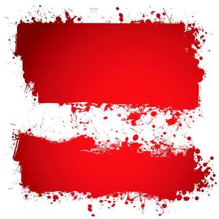 Red ink blood banner with room to add own text Stock Vector - 6013536