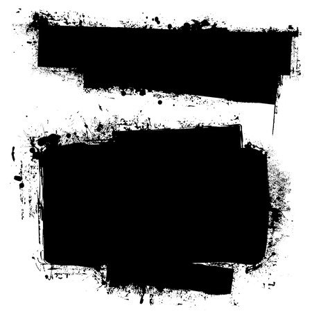 Black ink banners with grunge effect and copy space for your text Vector