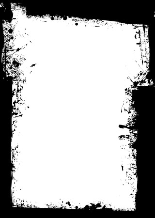 Black grunge background border with blank white space Vector