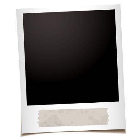 masking: �nica fotograf�a instant�nea con antiguo trozo de cinta de enmascarar Vectores