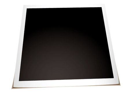 Instant photograph with shadow laying on a flat surface Vector