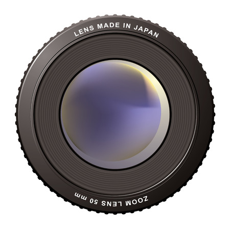 Camera zoom lens with blur center ideal icon Vector