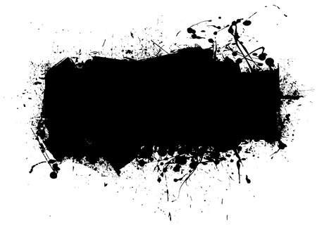Black ink splat abstract background with room to add text Stock Vector - 6085717