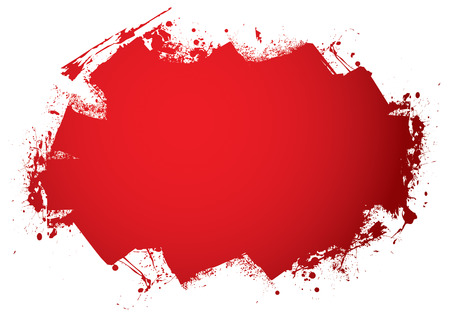 Blood red roller marks with room to add your text Vector
